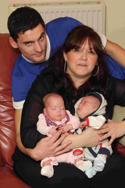 Gemma Borer and Dean Broderick bring their three-month-old twins Olivia and Logan home after they were born 15 weeks early
