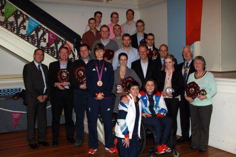Winners are joined by stars of GB's Olympic and Paralympic Teams, sports journalist Andy Steggall and deputy mayor of Winchester Ernest Jeffs