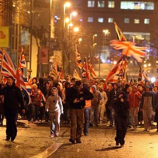 Protesters have taken to the streets of Belfast again after the city council decided to fly the union flag only on designated days