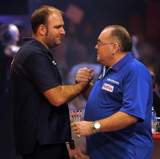 Scott Waites, left, beat Tony O'Shea in the Lakeside final