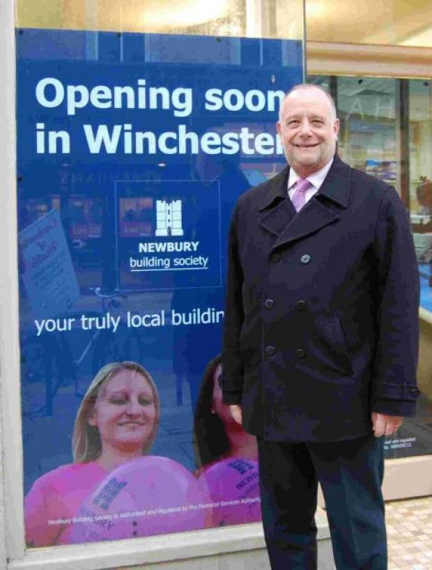 Geoff Knappett outside the new branch
