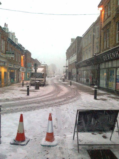 Winchester High Street, 8.50am today