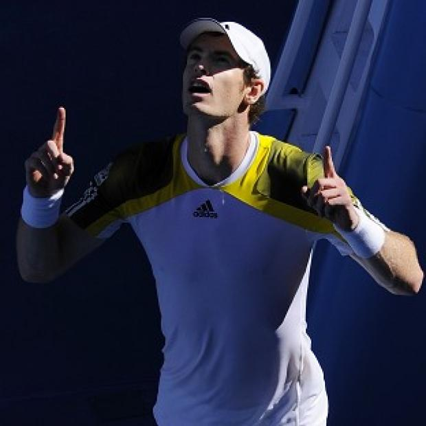 Andy Murray celebrates in Melbourne following his straight sets success (AP)