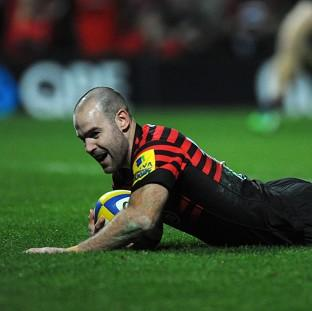 Charlie Hodgson scored a late try as Saracens beat Edinburgh