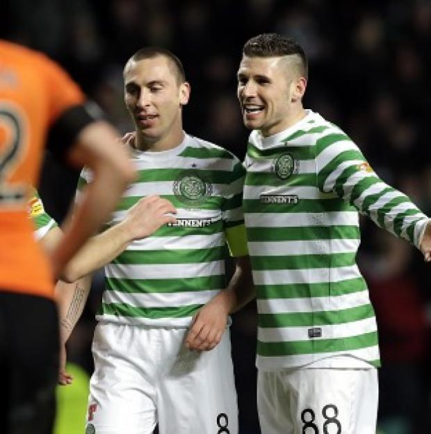 Noriwch target Gary Hooper, right, scored a brace against Dundee United