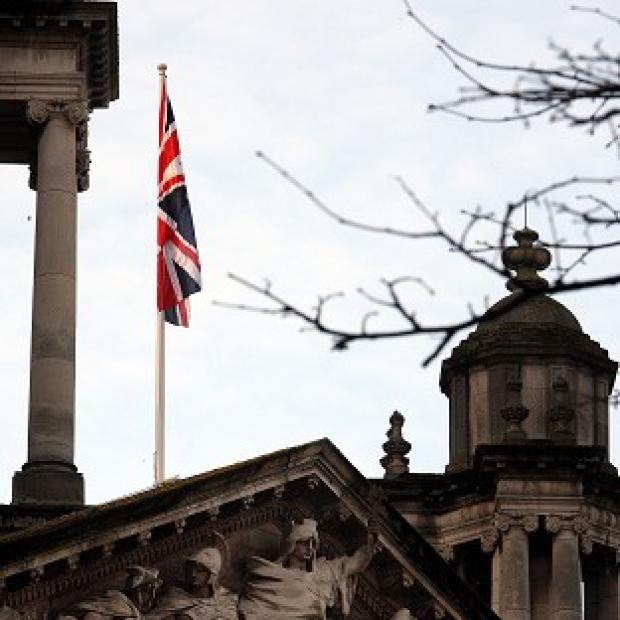 A man has been arrested over disturbances linked to the Union flag row