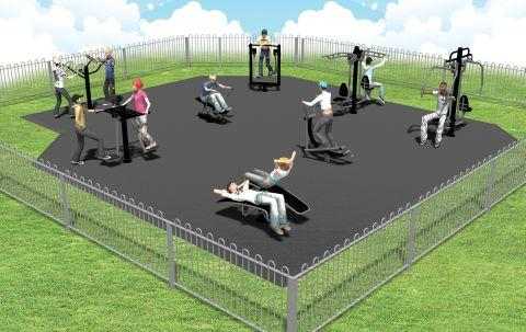 Hampshire Chronicle: An illustration of how the fitness area will look