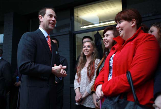 Prince Edward unveils new university building in Winchester