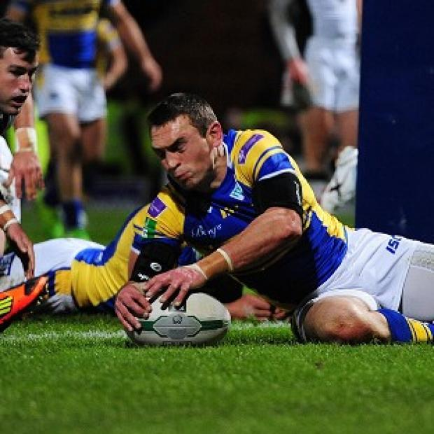 Skipper Kevin Sinfield scored the opening try and kicked six goals for Leeds