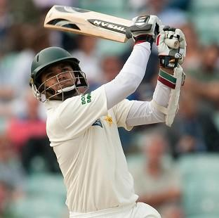 Azhar Ali ended the day unbeaten on 45