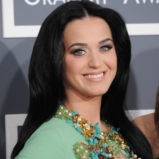 Katy Perry was seen wearing a heart-shaped ruby ring