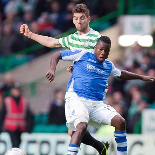 Nigel Hasselbaink, right, struck late on against Celtic