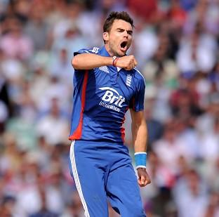James Anderson returned figures of five for 34 as England levelled the series
