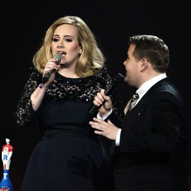 James Corden cut short Adele's acceptance speech during the 2012 Brits