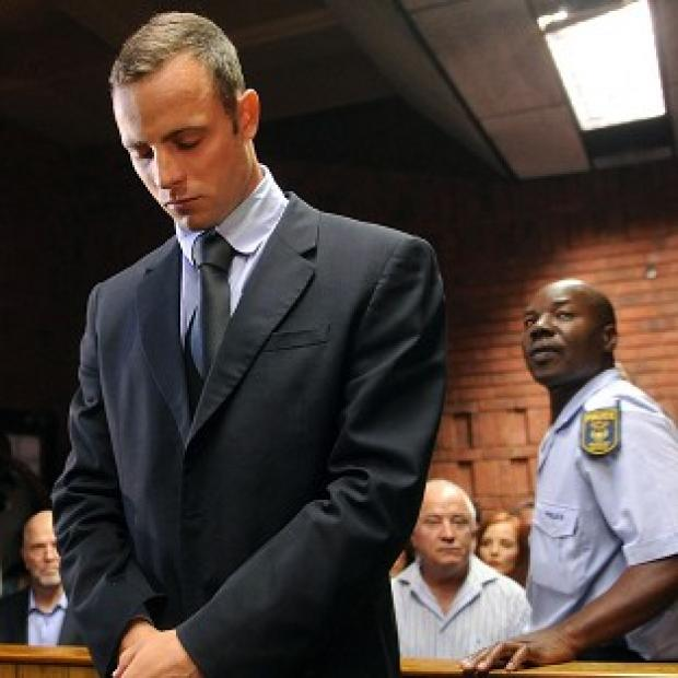 Oscar Pistorius stands in court during his bail hearing (AP)