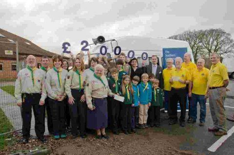 Last year's grant recipiants 1st Wickham Scout Group and Meon Valley Lions Club