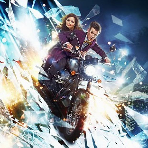 Doctor Who and his newest companion Clara Oswald in The Bells of St John