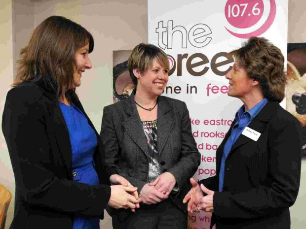 L-R: Highfield Park sales manager LynnHames, general manager Kirsty Ewart  and Barbara Payne, from Digital Design Agency