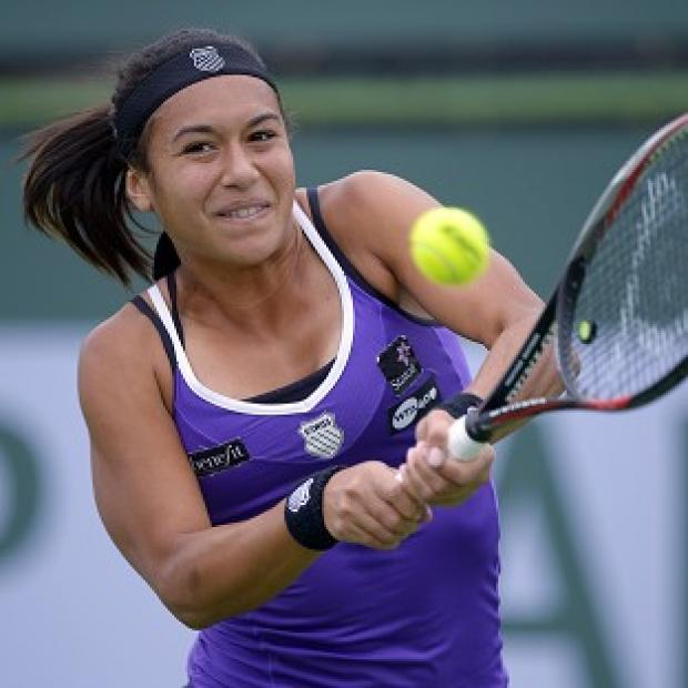 Heather Watson slipped to a 6-2 6-4 loss in one hour 43 minutes (AP)