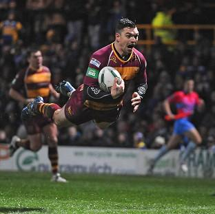 Danny Brough scored a try and kicked four goals in Huddersfield's win