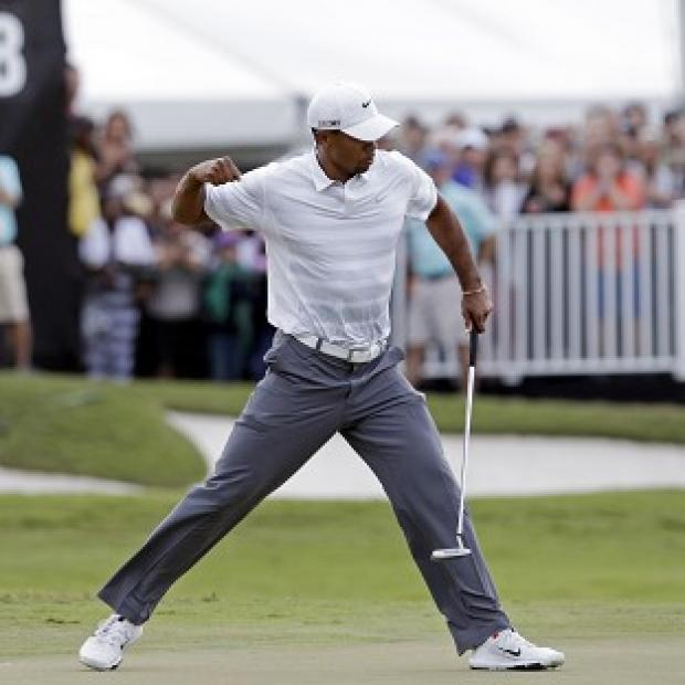 Tiger Woods holds a four-shot advantage at the Cadillac Championship (AP)