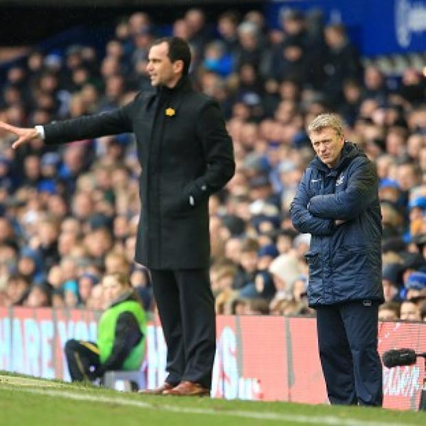 Roberto Martinez, left, insists his priority is Premier League survival