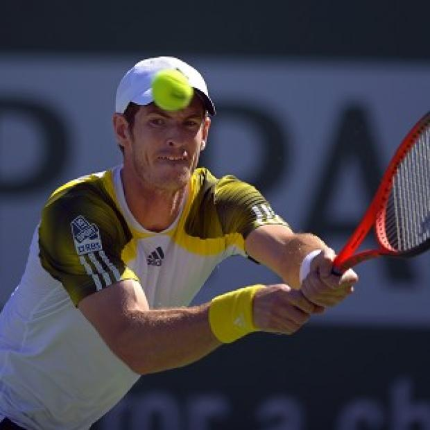 Andy Murray, pictured, saw off the challenge of Evgeny Donskoy in his opening BNP Paribas Open match (AP)