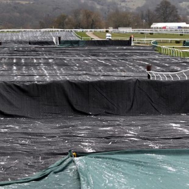 The scene at Cheltenham on Tuesday morning