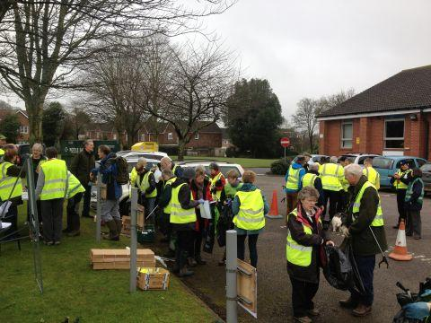 Volunteers gathered 100 sacks of litter in two hours