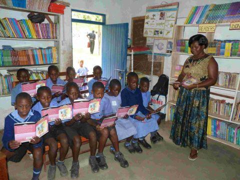 A new library at Kagando Primary School