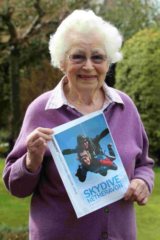 Sylvia Stops ahead of her charity skydive