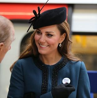 The Duchess of Cambridge was given Baby on Board badge at Baker Street Tube Station