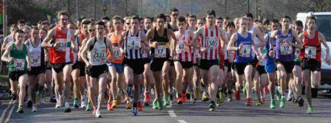 Record field in road race