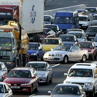 Motorists faced chaos on the M25 following a chemical spillage froma lorry