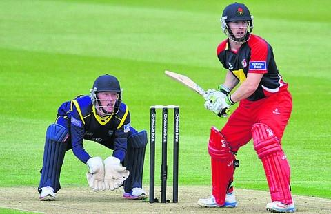 Alsop keeping wicket against Lancashire last year