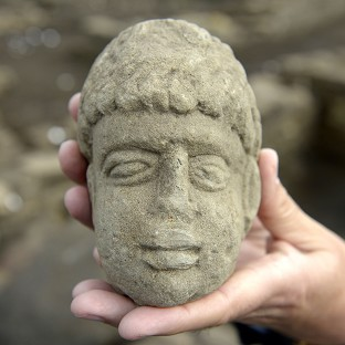 Stone head of Geordie 'god' found