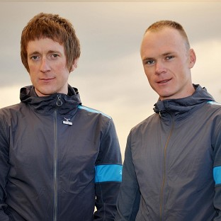 Sir Dave Brailsford is not concerned about the relationship between Sir Bradley Wiggins, left, and Chris Froome, right