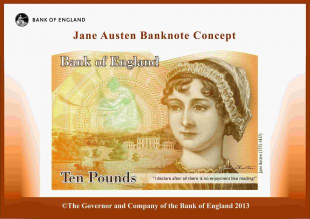 Hampshire Chronicle: A concept design of the new £10 banknote to be issued in 2017