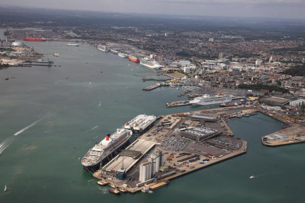 The port of Southampton