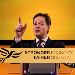 Nick Clegg denounced Tory ideas about employment rights and said only the Lib Dems could speak credibly about creating and defending jobs