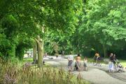 How the old Andover Road should look when transformed into a tree-lined boulevard.