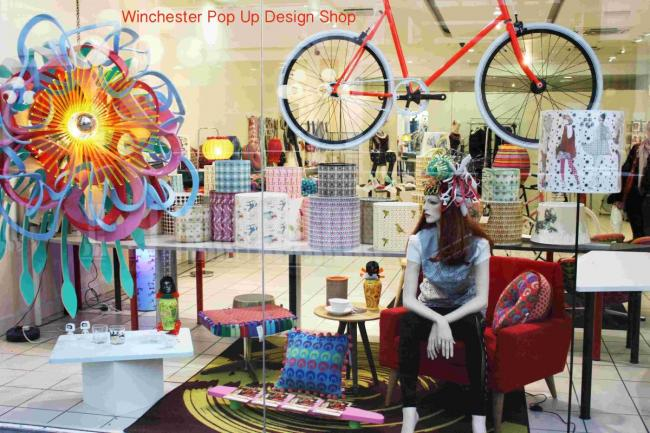 The Winchester Pop Up Design Shop in the Brooks Shopping Centre
