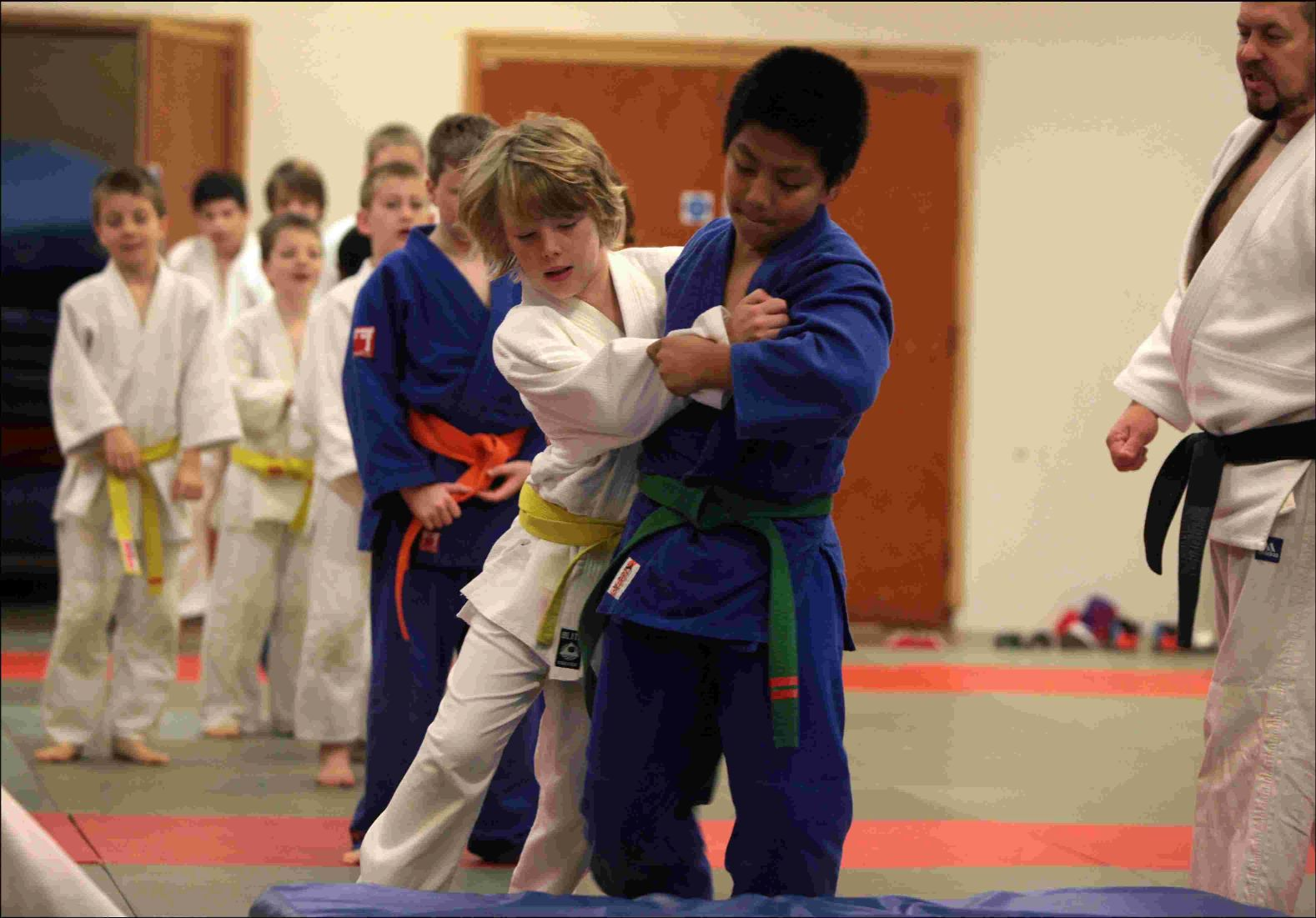 Young Fleming Park Judo Club members are put through their paces on a training night.