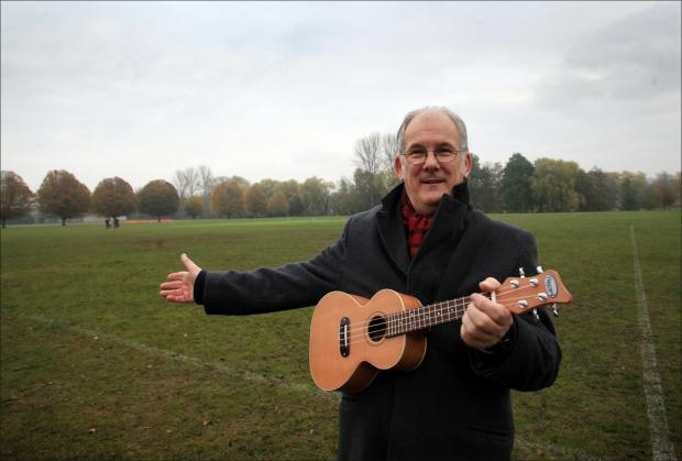 Campaigner, Andy Martin, has written a song protesting about the council's plans to develop on River Park.