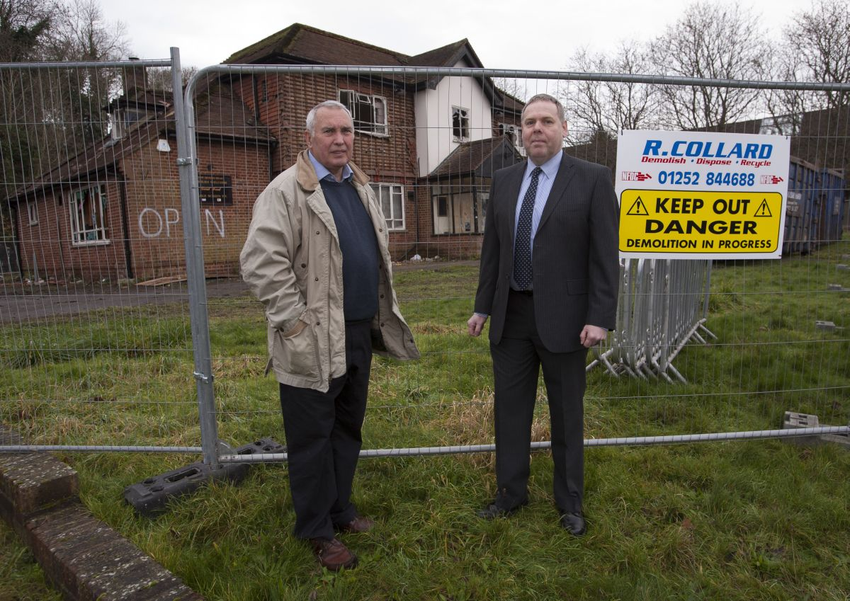 Keith Wood (left) frustrated over leisure centre campaign