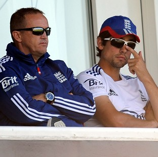 Andy Flower, left, and Alastair Cook, right, have both been backed to remain in their roles