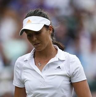 Laura Robson was forced to retire during her return to action after a wrist injury