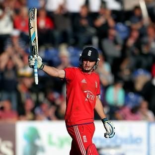 Jos Buttler, pictured, top-scored with 61 for England as they claimed a 172-run win over a Prime Minister's XI in Canberra on Tuesday