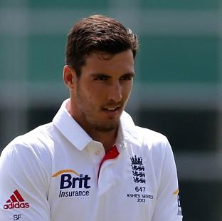 Hampshire Chronicle: Steven Finn, pictured, has been backed by Middlesex team-mate James Harris to rediscover his form