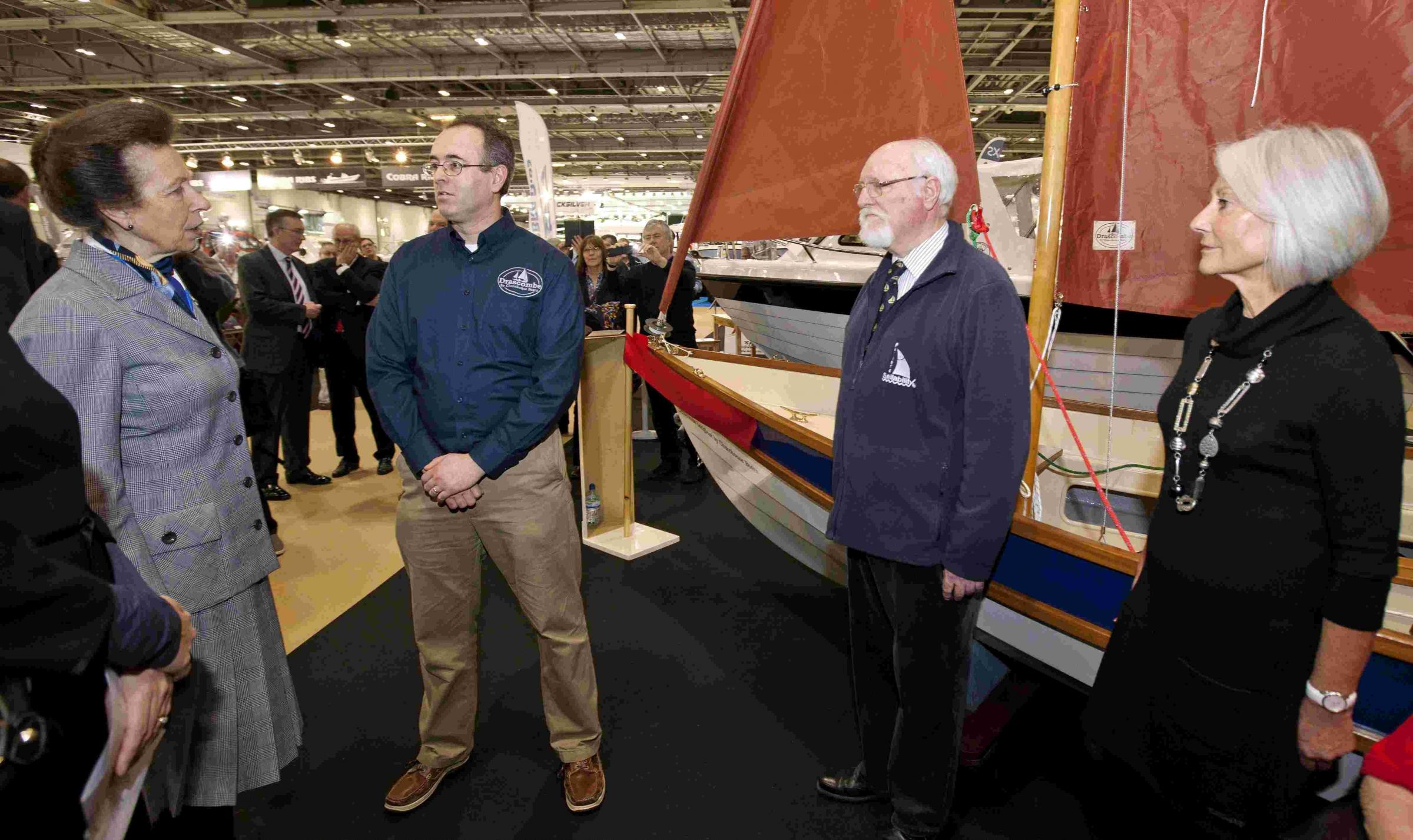 Princess Anne gives a Churchouse sailing boat her seal of approval